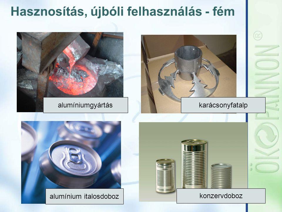Hasznosítás, újbóli felhasználás - fém alumíniumgyártás karácsonyfatalp alumínium italosdoboz konzervdoboz