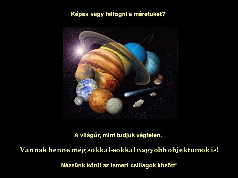 Képes vagy felfogni a méretüket? Pedig ez még mind semmi… A világűr, mint tudjuk végtelen. Vannak benne még sokkal-sokkal nagyobb objektumok is! Nézzü