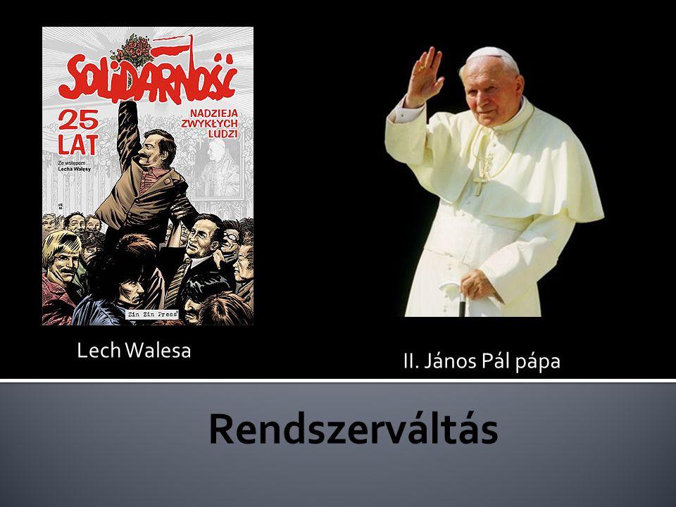 II. János Pál pápa Lech Walesa
