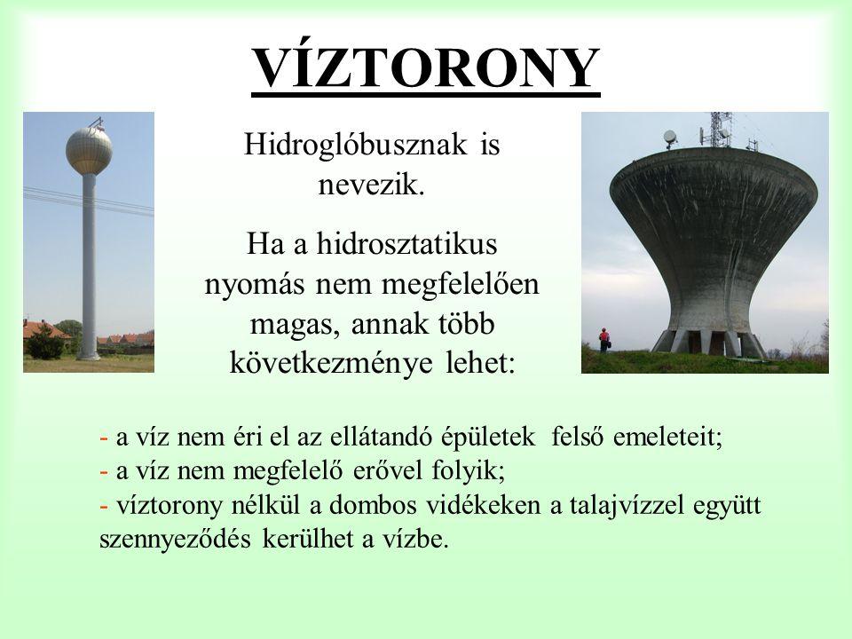 VÍZTORONY Hidroglóbusznak is nevezik.