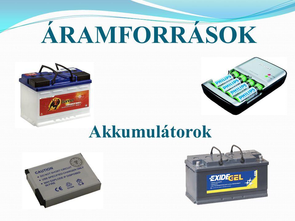 ELEKTROMOS FOGYASZTÓK Azok a berendezések, melyek az elektromos áramot használják fel a működésükhöz.