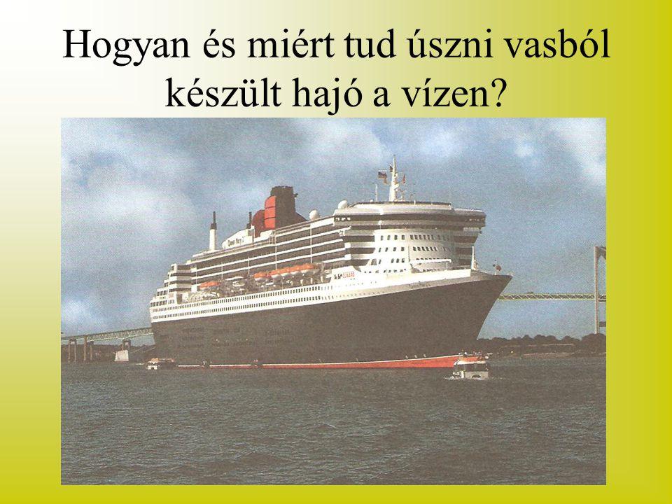 Hogyan és miért tud úszni vasból készült hajó a vízen?