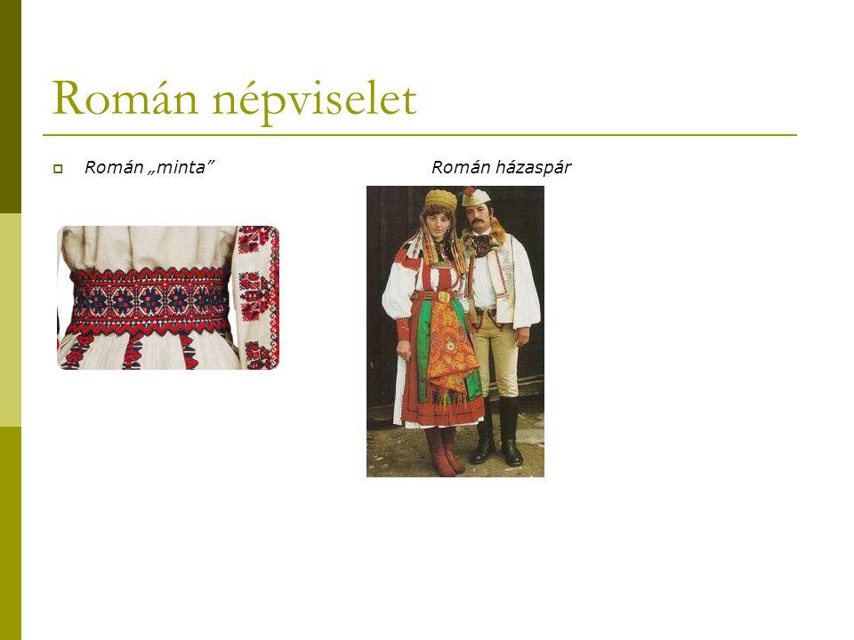 """Román népviselet  Román """"minta Román házaspár"""