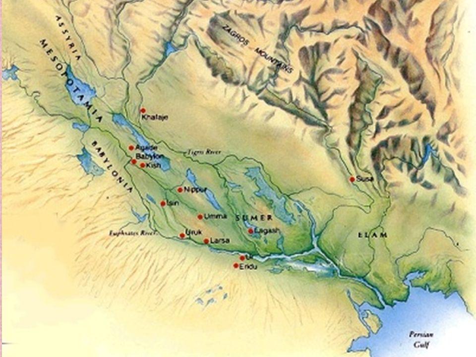 5 Mezopotámia korai története Területe földművelésre alkalmas.