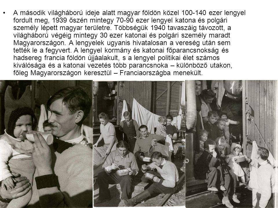 A második világháború ideje alatt magyar földön közel 100-140 ezer lengyel fordult meg, 1939 őszén mintegy 70-90 ezer lengyel katona és polgári személ