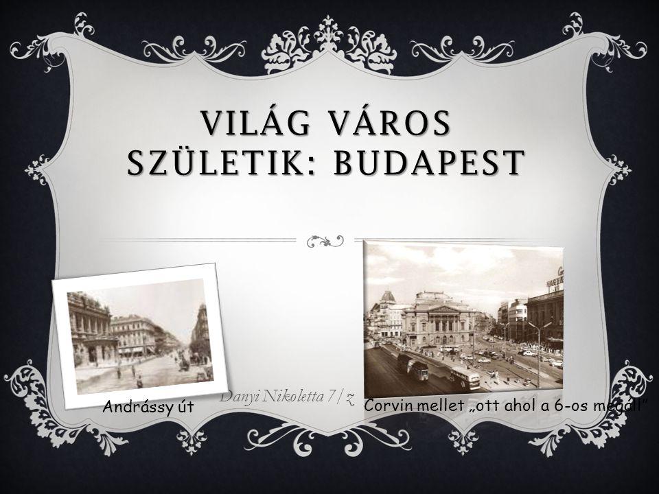 """VILÁG VÁROS SZÜLETIK: BUDAPEST Danyi Nikoletta 7/z Andrássy út Corvin mellet """"ott ahol a 6-os megáll"""
