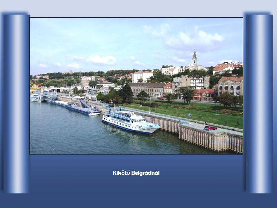 Szerbiában B BB Belgradnál, a Száva betorkolása.