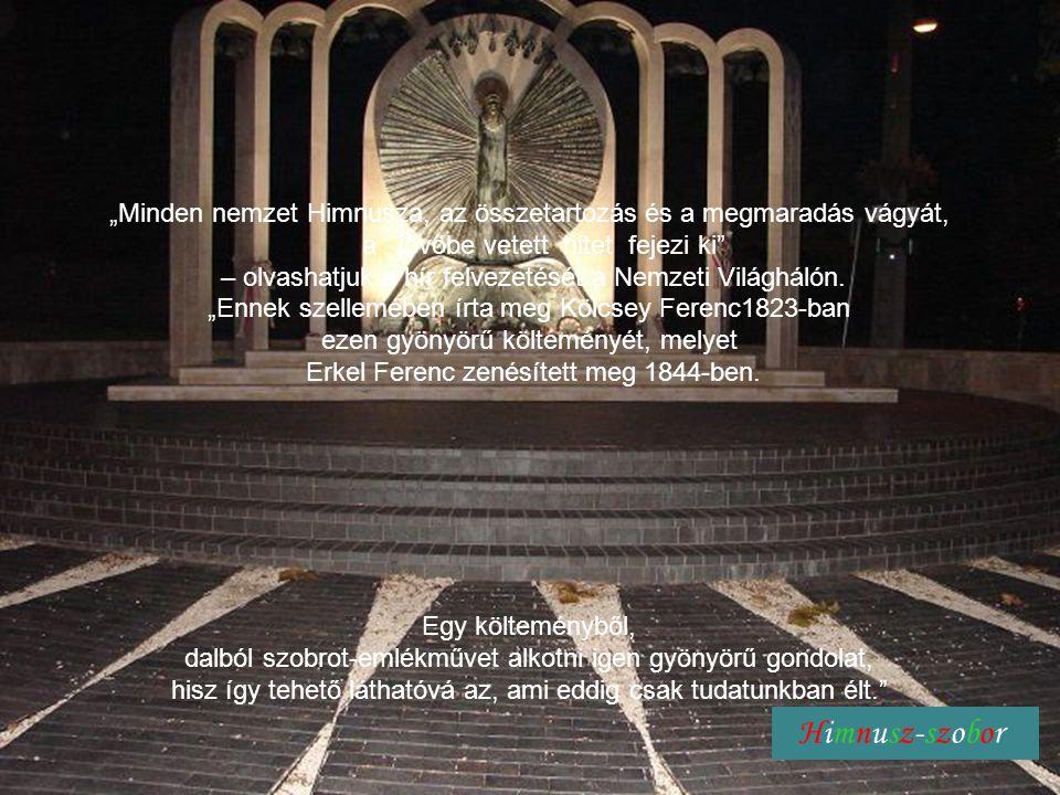 Himnusz - szobor harangjáték Himnusz-emlékmű