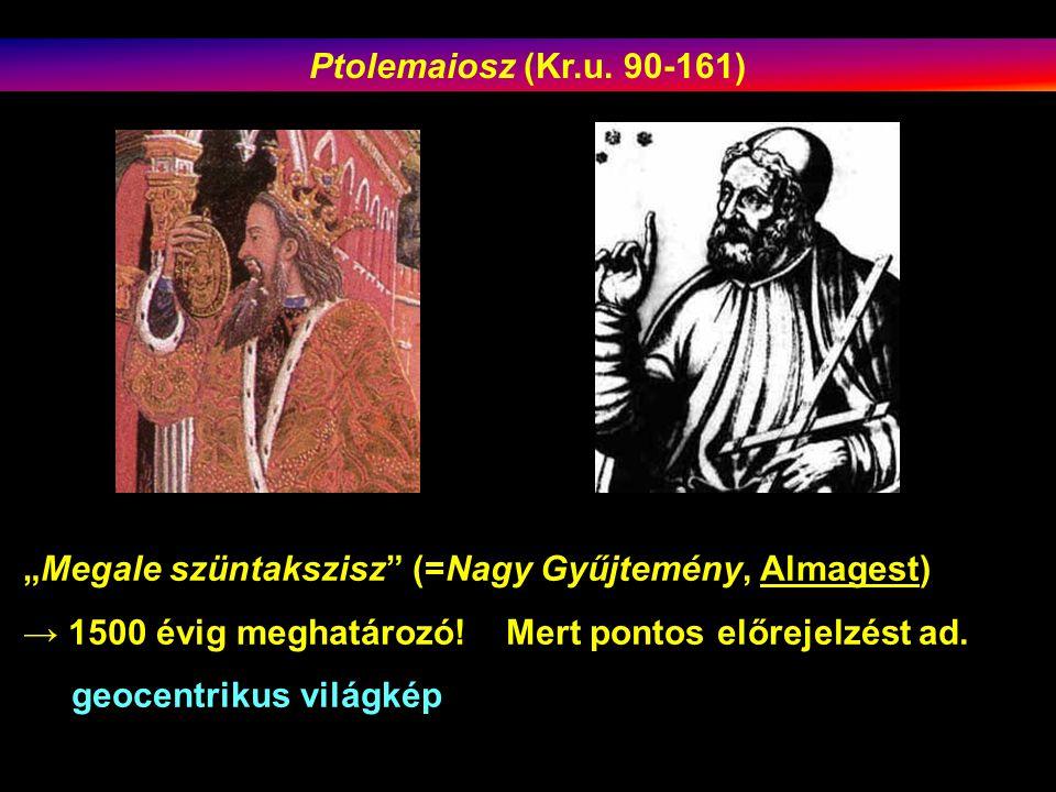"""""""Megale szüntakszisz (=Nagy Gyűjtemény, Almagest) → 1500 évig meghatározó."""