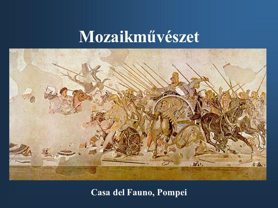 Mozaikművészet Casa del Fauno, Pompei