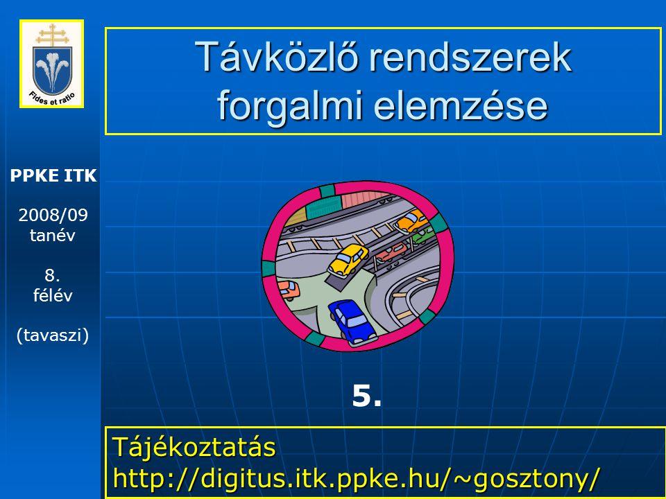 Távközlő rendszerek forgalmi elemzése – 2009. 03. 10. 22 Little tétele 2.