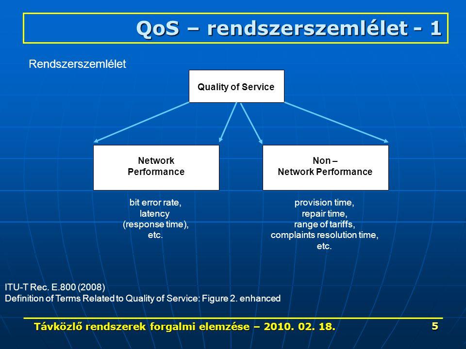 Távközlő rendszerek forgalmi elemzése – 2010. 02. 18. 56 1200 Internet forgalom jellemzői – 3.