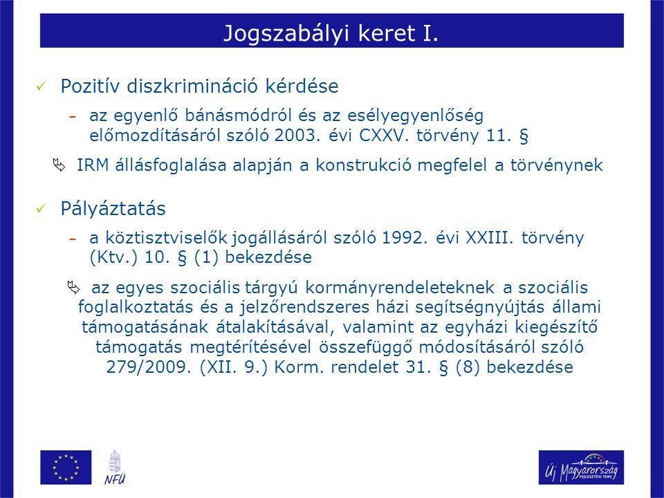 Jogszabályi keret II.279/2009. (XII. 9.) Korm. rendelet 31.