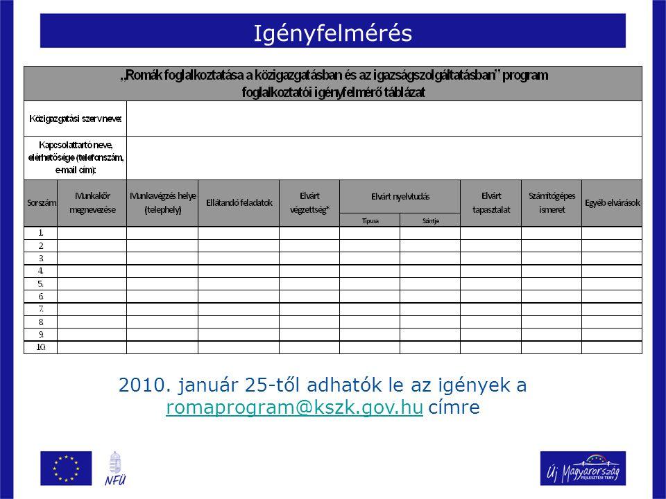Pályázat tartalma Az ÁROP biztosítja pályázatonként legfeljebb 10 fő részére 1 évre szóló összes személyi jellegű költséget fejenként maximum 6,5 millió forint erejéig A pályázók kötelezettségei: –a versenyvizsgát sikeresen teljesített romák közül legalább 1 fő alkalmazása; –határozatlan idejű köztisztviselői, illetve igazságügyi alkalmazotti jogviszony létesítése; –a jogviszony fenntartása a létesítéstől számított legalább 24 hónapig (ebből 12 hónapot a pályázat keretében az Államreform operatív program finanszíroz, a további 12 hónapot a foglalkoztató szerv a saját költségvetésének a terhére); –a foglalkoztatás érdemi igazgatási feladatot ellátó munkavállalóként történik; –mentorálási tervet készít.