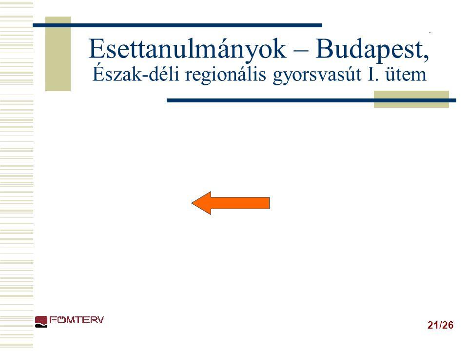 21/26 Esettanulmányok – Budapest, Észak-déli regionális gyorsvasút I. ütem