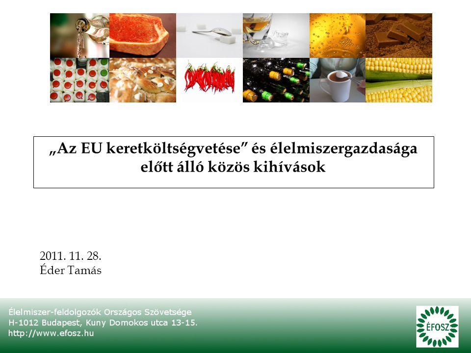 """""""Az EU keretköltségvetése és élelmiszergazdasága előtt álló közös kihívások 2011."""