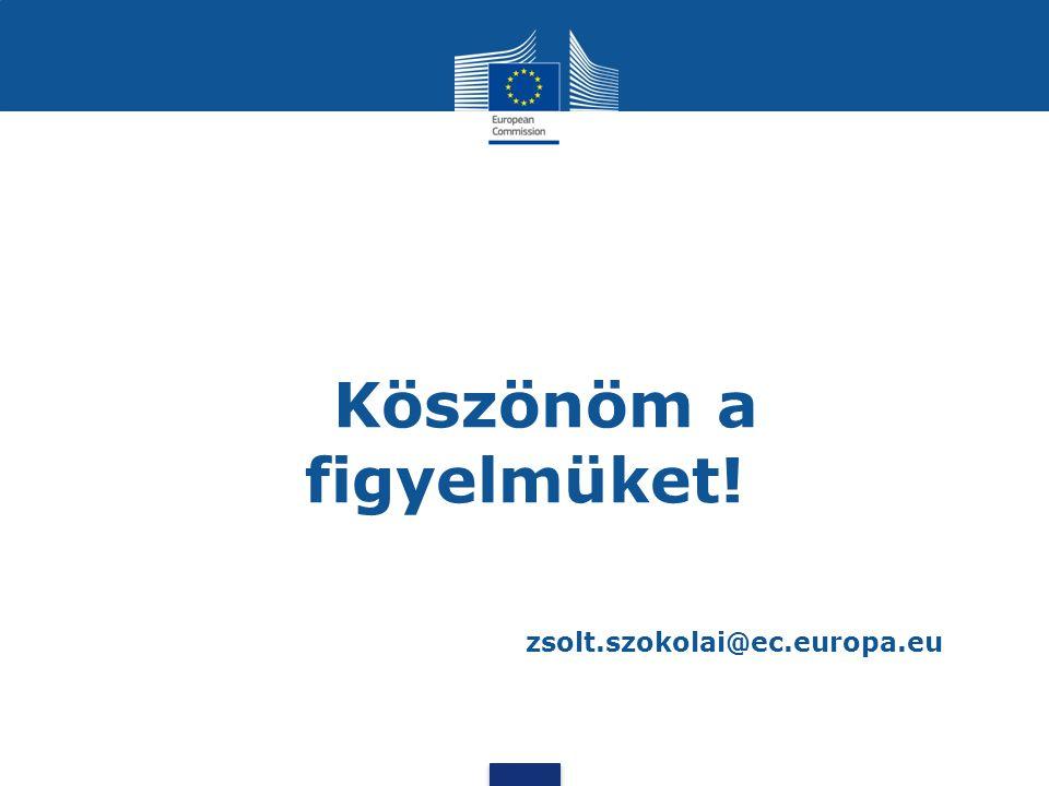 Köszönöm a figyelmüket! zsolt.szokolai@ec.europa.eu
