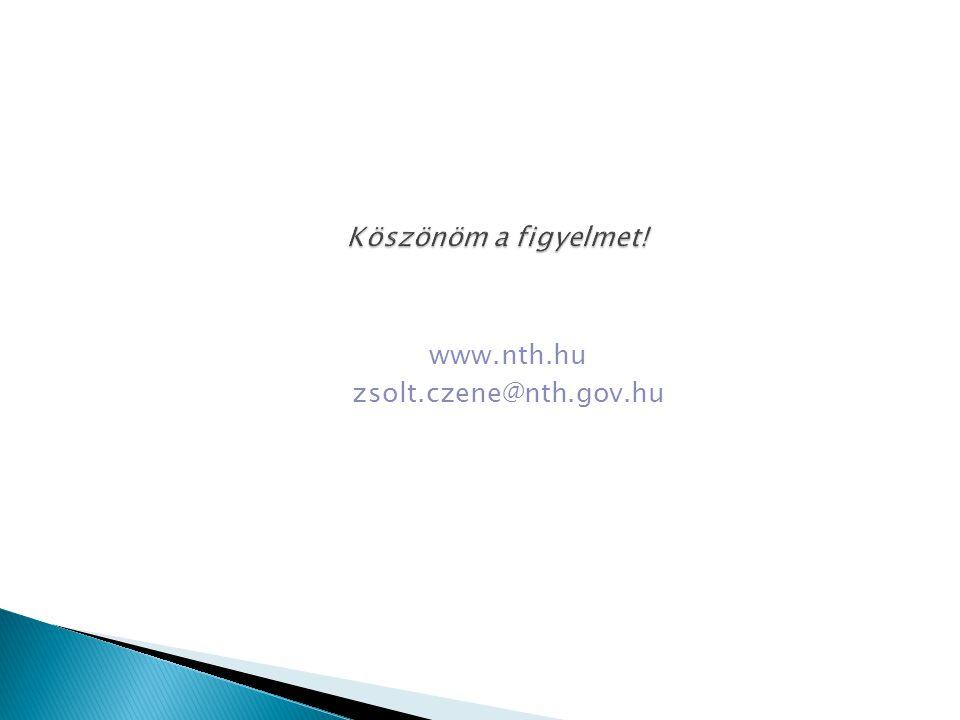 www.nth.hu zsolt.czene@nth.gov.hu