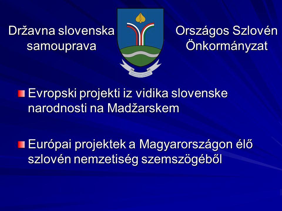 Evropski projekti iz vidika slovenske narodnosti na Madžarskem Európai projektek a Magyarországon élő szlovén nemzetiség szemszögéből Državna slovensk
