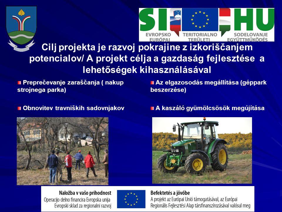 Cilj projekta je razvoj pokrajine z izkoriščanjem potencialov/ A projekt célja a gazdaság fejlesztése a lehetőségek kihasználásával Preprečevanje zara