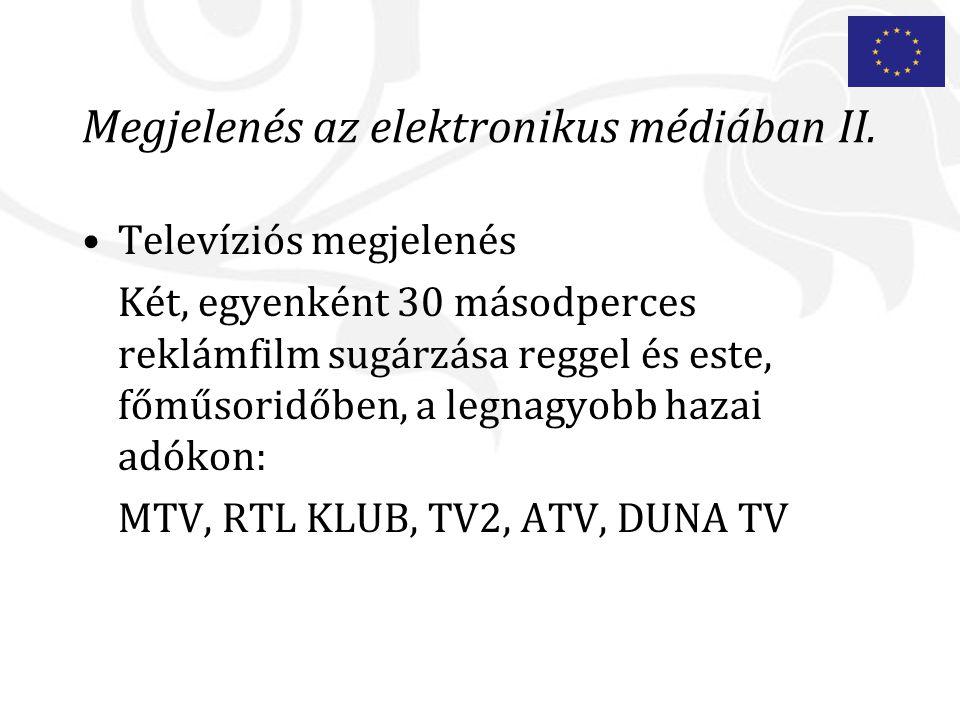 Megjelenés az elektronikus médiában II.