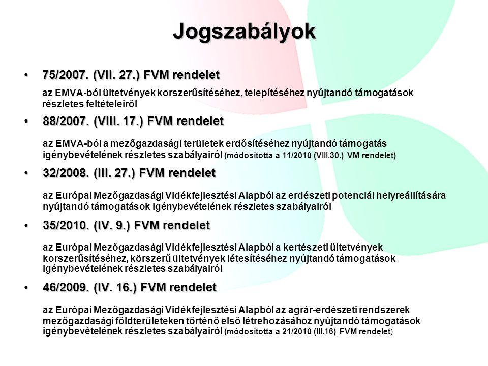 Jogszabályok 124/2009.(IX.24.) FVM rendelet124/2009.