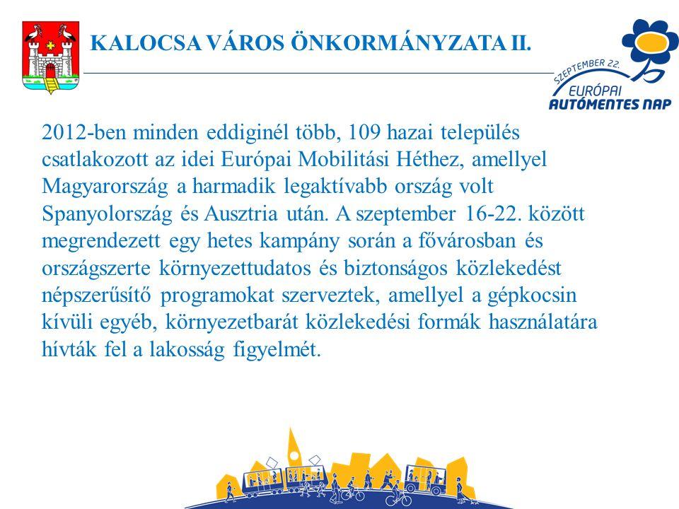 KALOCSA VÁROS ÖNKORMÁNYZATA II.