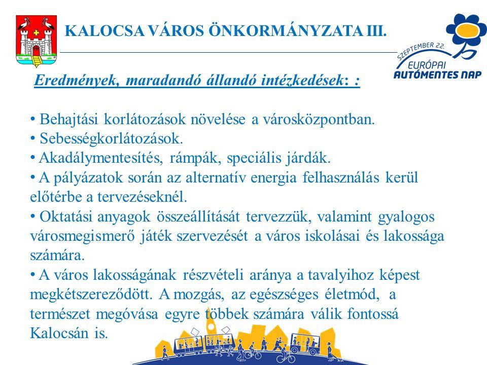 KALOCSA VÁROS ÖNKORMÁNYZATA III.