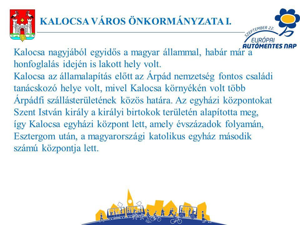 KALOCSA VÁROS ÖNKORMÁNYZATA I.