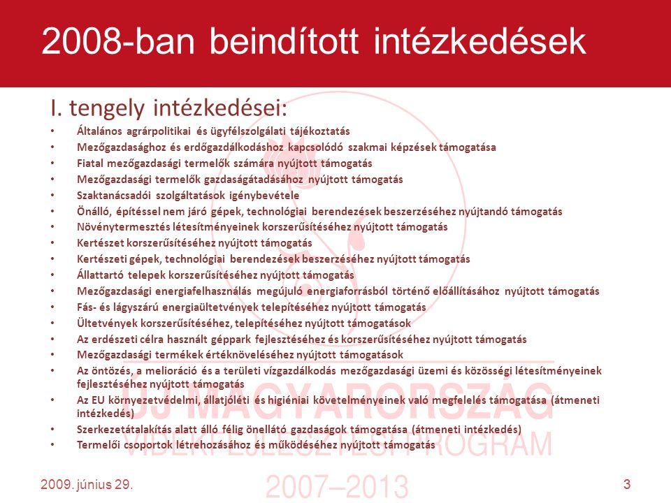 3 2009. június 29.3 2008-ban beindított intézkedések I.