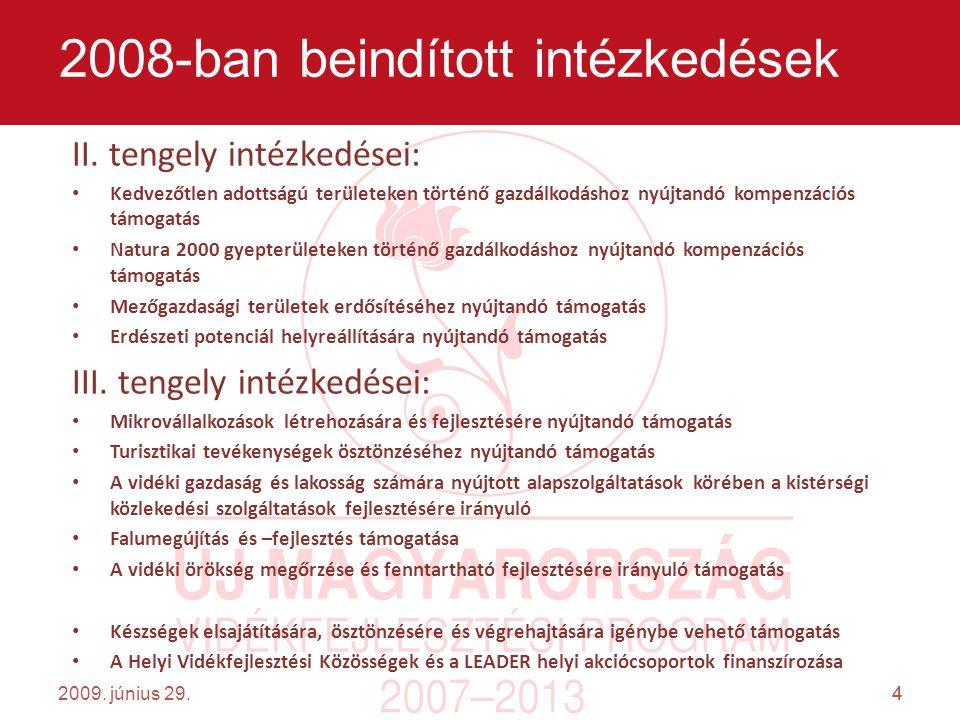 4 2009. június 29.4 2008-ban beindított intézkedések II.