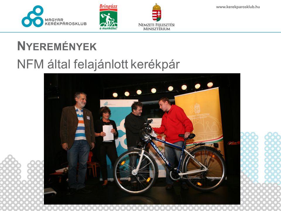 N YEREMÉNYEK NFM által felajánlott kerékpár