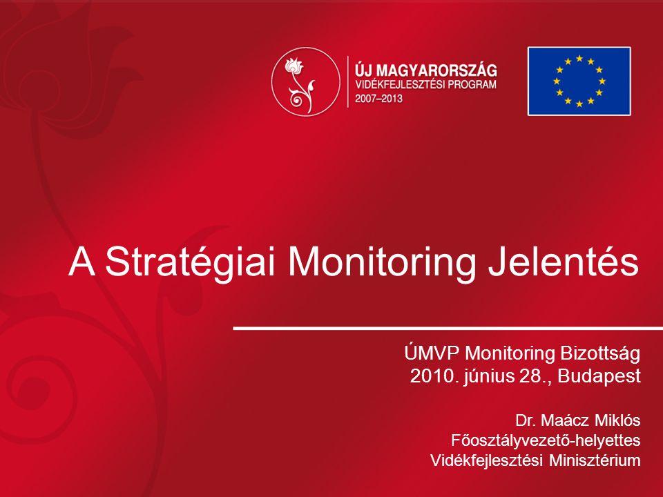 A Stratégiai Monitoring Jelentés ÚMVP Monitoring Bizottság 2010.