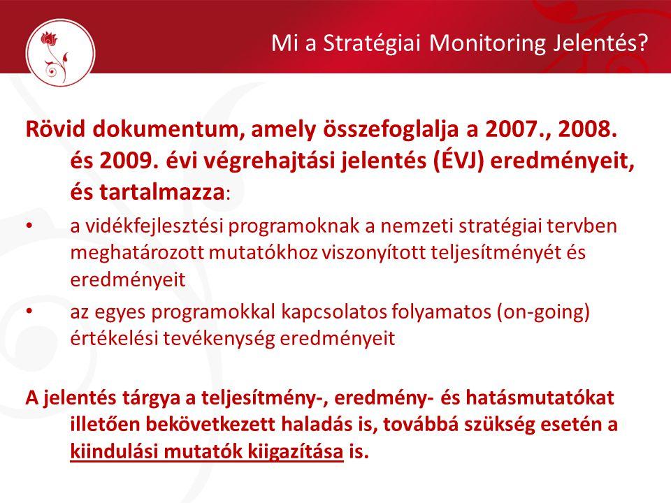 Mi a Stratégiai Monitoring Jelentés. Rövid dokumentum, amely összefoglalja a 2007., 2008.
