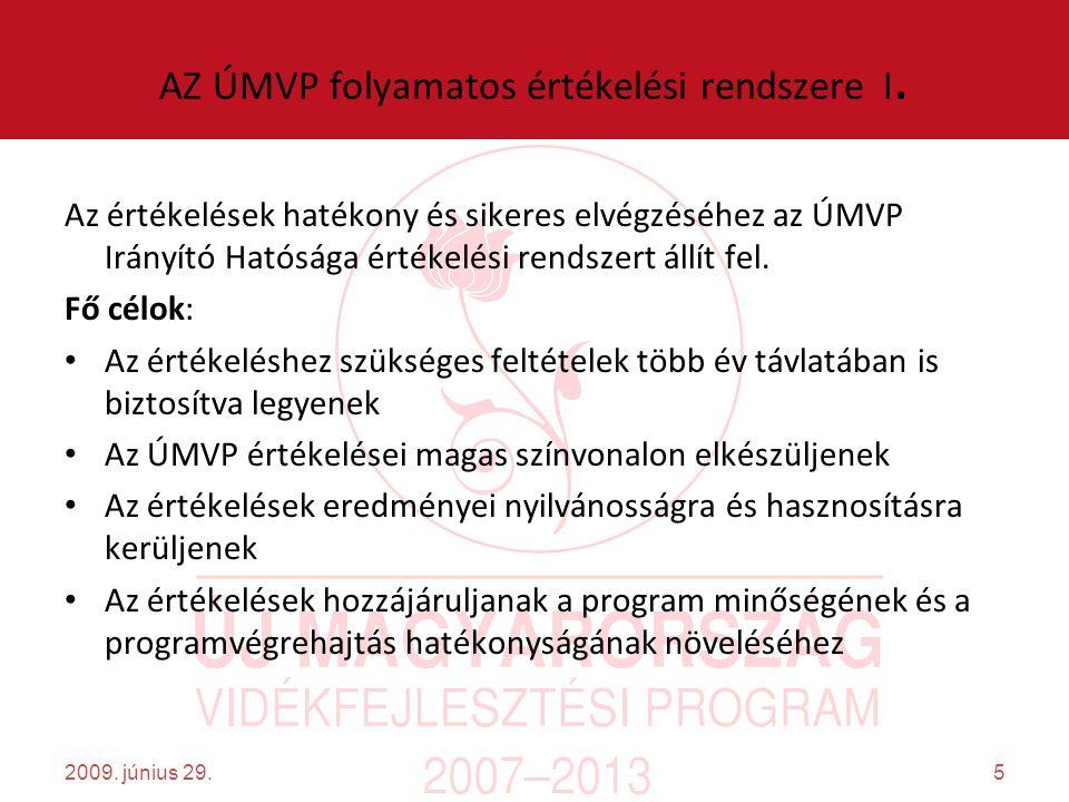 5 AZ ÚMVP folyamatos értékelési rendszere I.