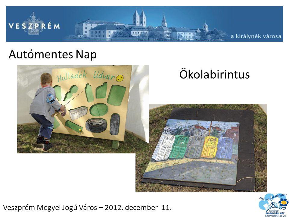 Veszprém Megyei Jogú Város – 2012. december 11. Ökolabirintus Autómentes Nap
