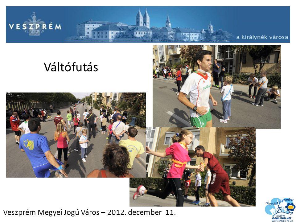 Veszprém Megyei Jogú Város – 2012. december 11. Váltófutás