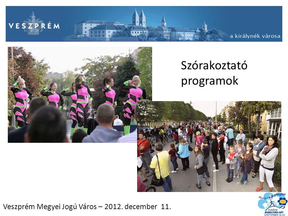 Veszprém Megyei Jogú Város – 2012. december 11. Szórakoztató programok