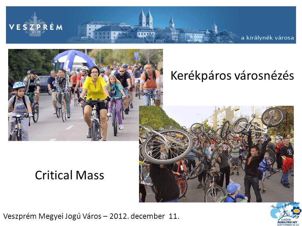 Veszprém Megyei Jogú Város – 2012. december 11. Kerékpáros városnézés Critical Mass
