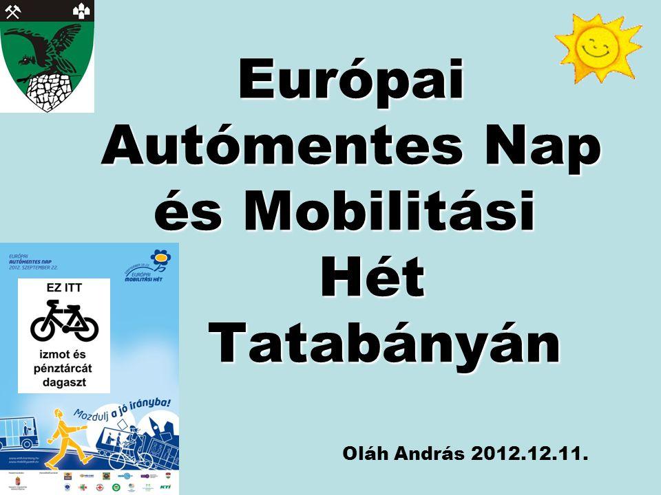 Európai Autómentes Nap és Mobilitási Hét Tatabányán Oláh András 2012.12.11.