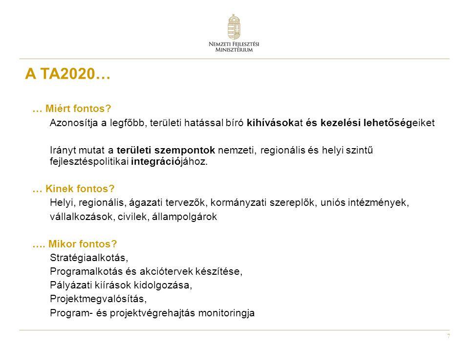 8 Fejlesztési prioritások (stratégia-, programalkotás) (pályázati kiírások ) Területi kihívások Helyi igények Térségi specifikumok Helyi potenciál Szinergikus hatások Integrált megközelítés Többszintű kormányzás Szubszidiaritás, partnerség A területi szempontok integrációjának logikája