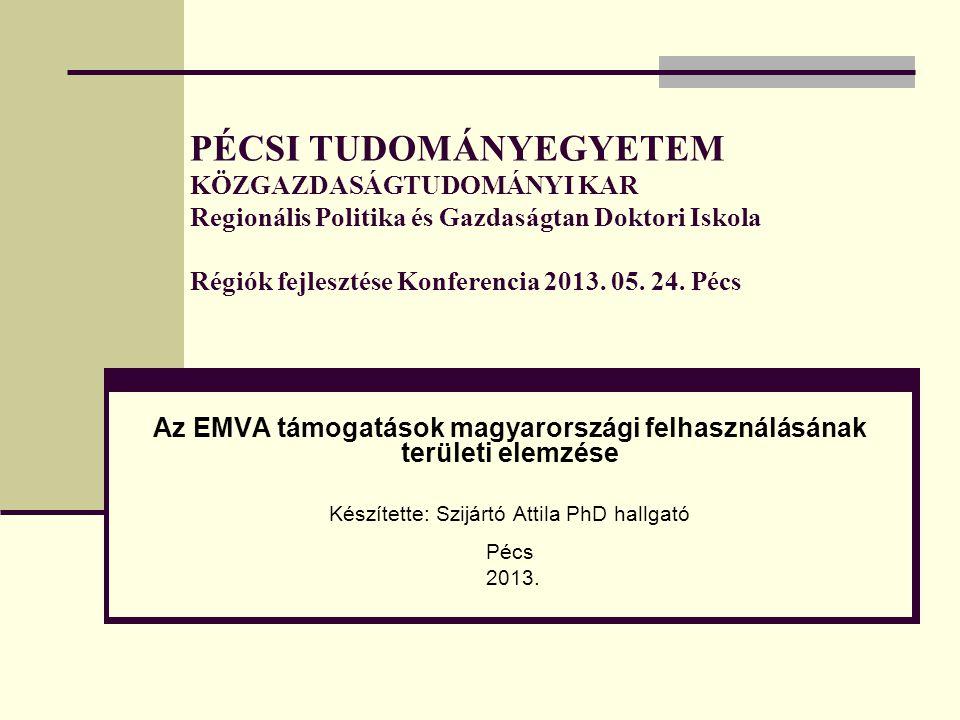 PÉCSI TUDOMÁNYEGYETEM KÖZGAZDASÁGTUDOMÁNYI KAR Regionális Politika és Gazdaságtan Doktori Iskola Régiók fejlesztése Konferencia 2013. 05. 24. Pécs Az