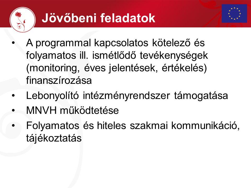 A programmal kapcsolatos kötelező és folyamatos ill. ismétlődő tevékenységek (monitoring, éves jelentések, értékelés) finanszírozása Lebonyolító intéz