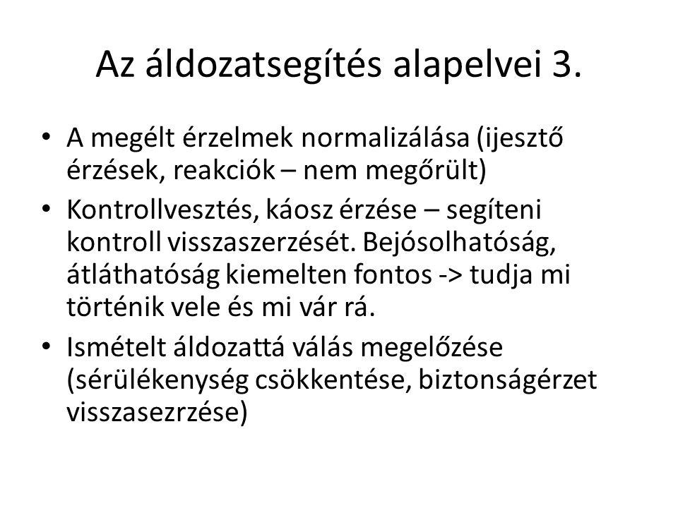 Az áldozatsegítés alapelvei 3.