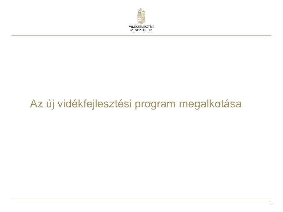 5 A 2014-2020 közötti Vidékfejlesztési Program megtervezése 1600/2012.