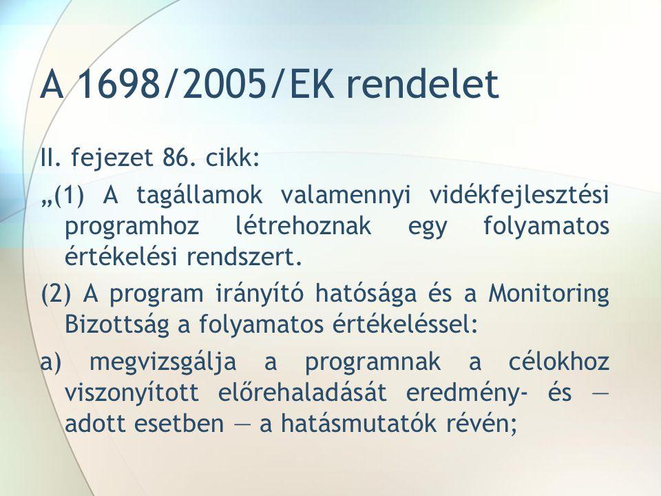 A 1698/2005/EK rendelet II. fejezet 86.