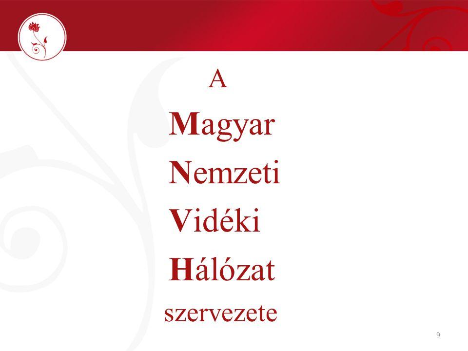 9 A Magyar Nemzeti Vidéki Hálózat szervezete