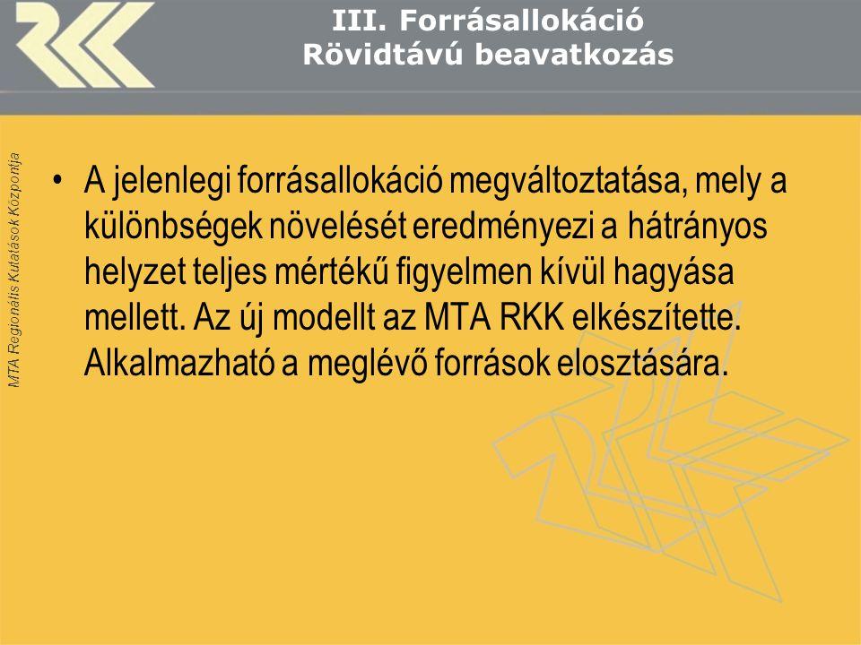MTA Regionális Kutatások Központja III.