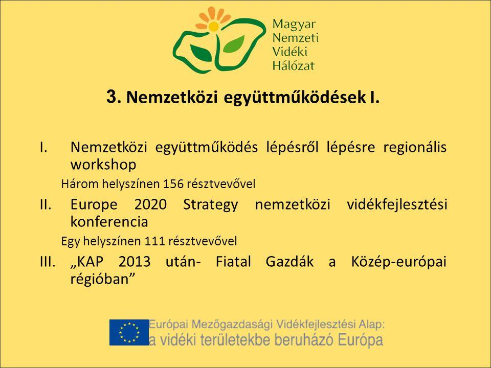 3. Nemzetközi együttműködések I.