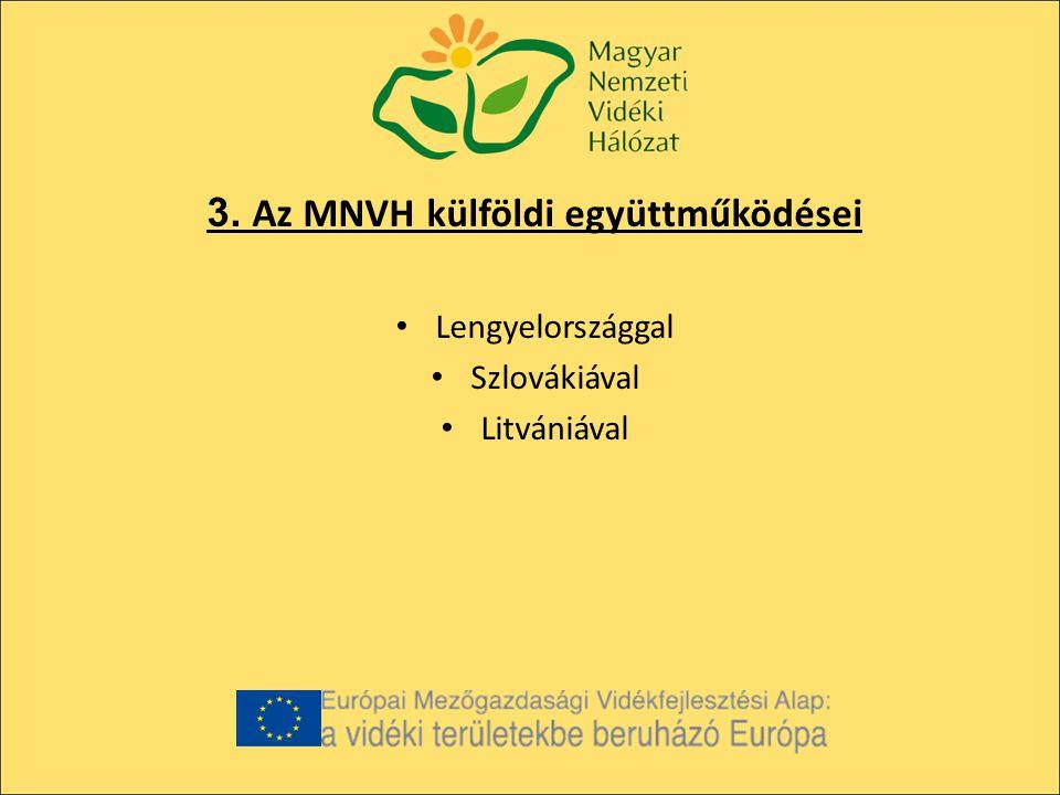 3. Az MNVH külföldi együttműködései Lengyelországgal Szlovákiával Litvániával
